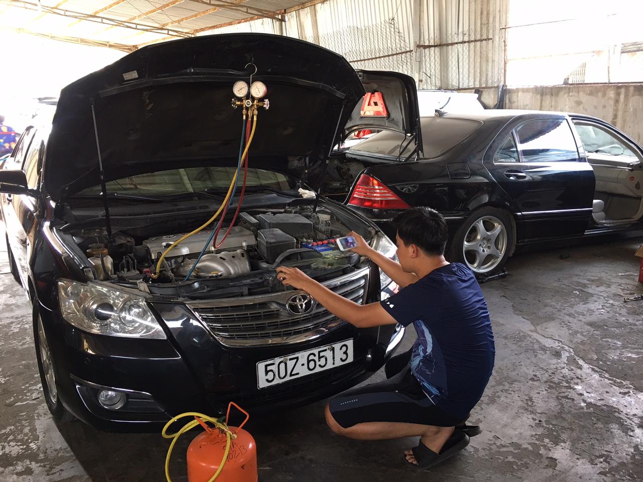 sửa điều hòa ô tô